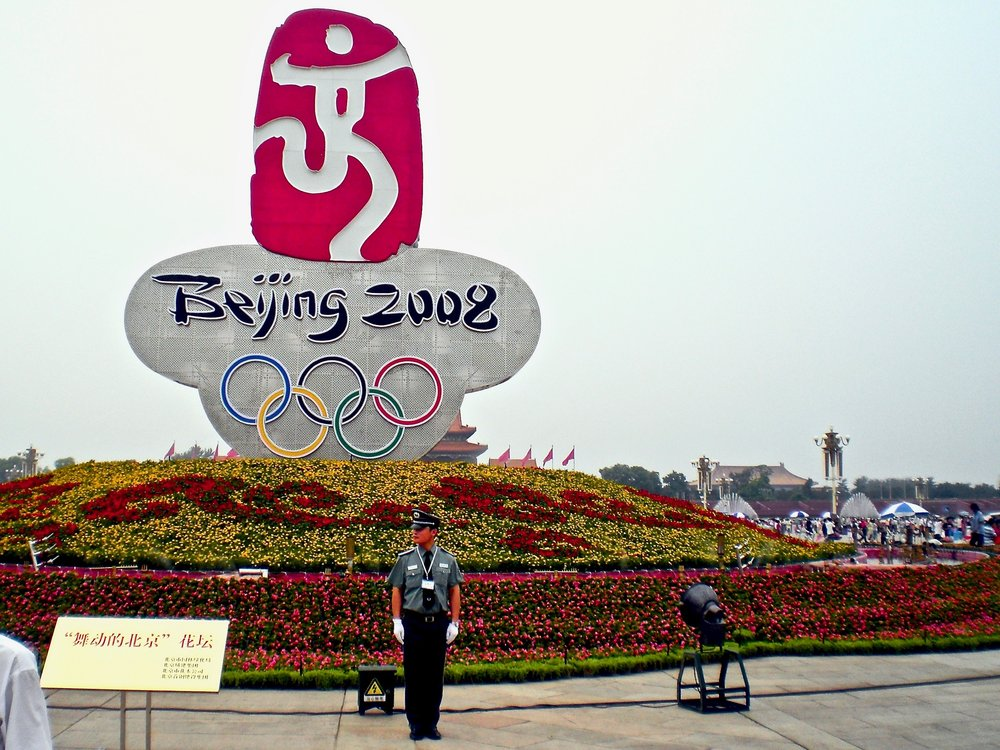 Guard on Tiananmen Square during the 2008 Olympic Games in Beijing, China. (C) Remko Tanis