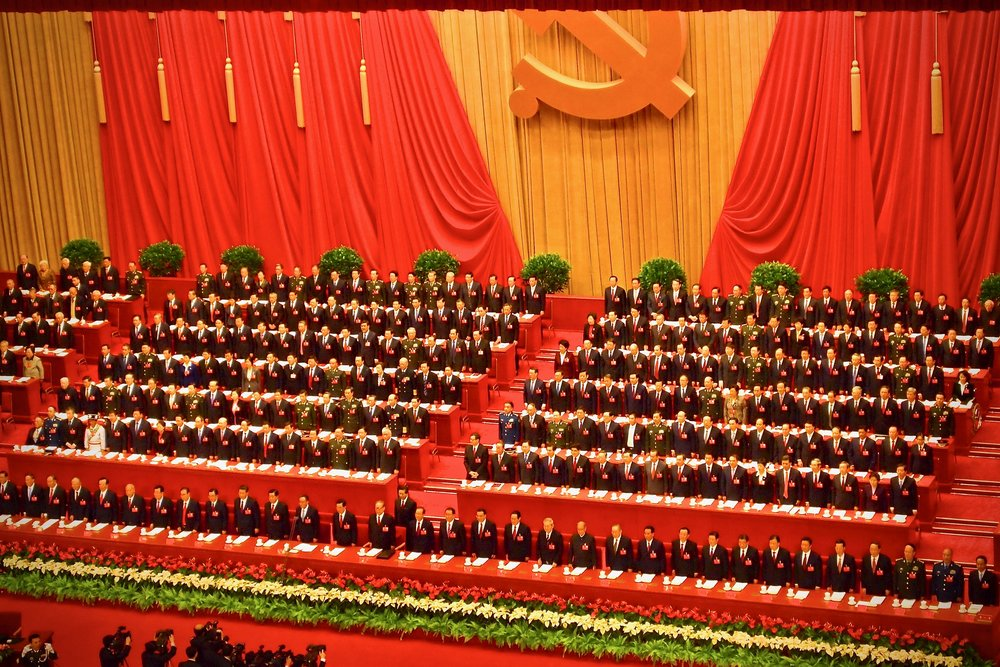 Leadership of the Communist Party of China at the Great Hall of the People in Beijing, 2012. Photo: (C) Remko Tanis