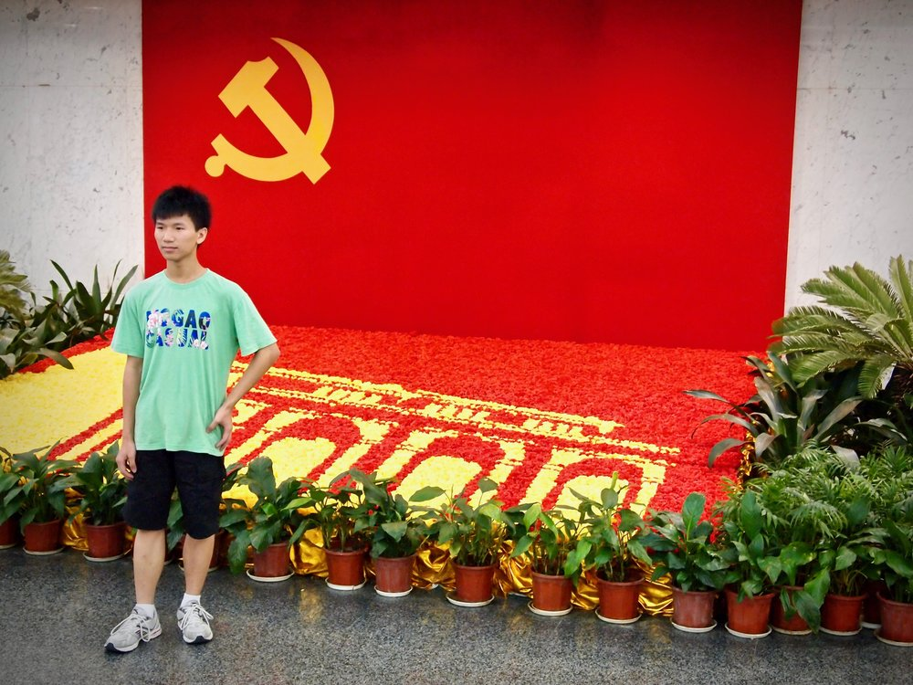 Tourist at the site of the First Congress of the Communist Party of China in Shanghai. Photo: (C) Remko Tanis
