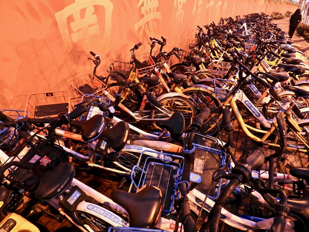Bike sharing bikes in Changsha, China. Photo: (C) Remko Tanis