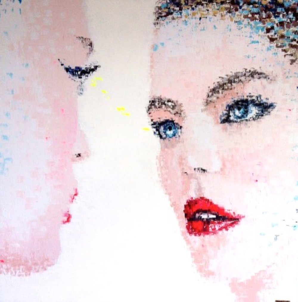 """Magic Dream 2"" Acrylic on canvas - 47 X 47 in."