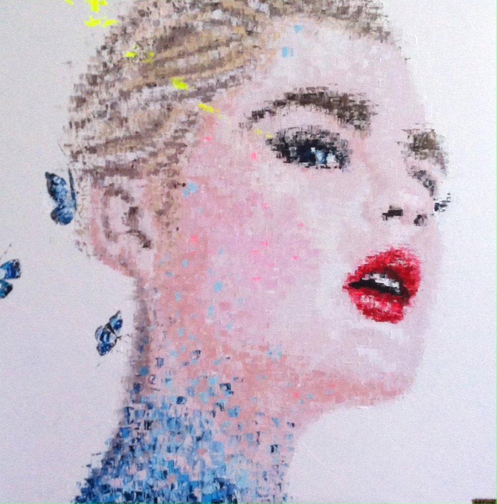"""Magic Dream 3"" Acrylic on canvas - 47 X 47 in."