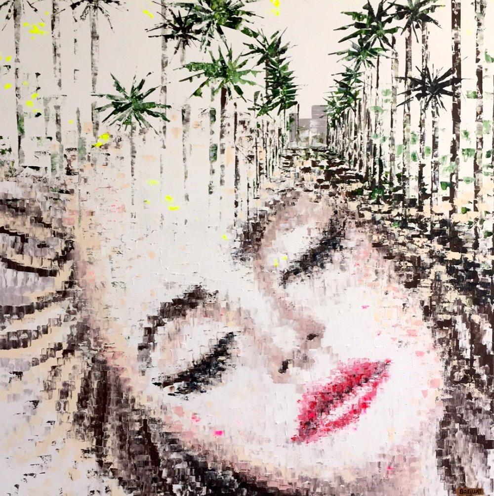 """Magic Dream 7"" - Acrylic on canvas - 47 X 47 in."