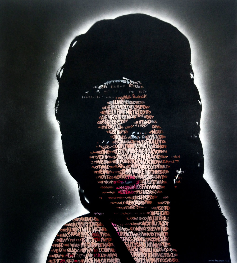 Amy Winehouse  (Rehab) -Acrylic on canvas - 44 x 40 in.