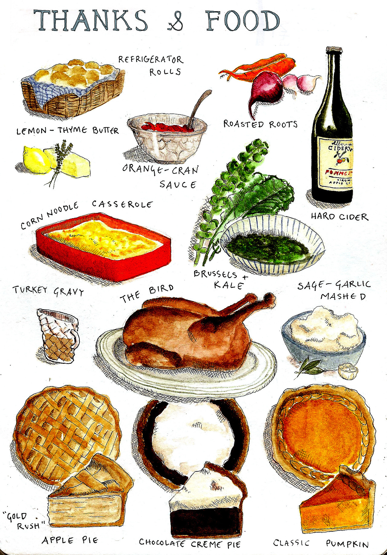 what we ate for Thanksgiving | roux studio