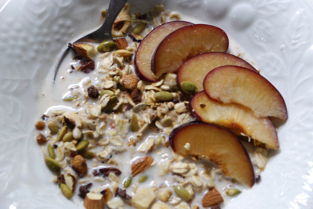 Toasted Muesli with Date Cinnamon Almond Milk