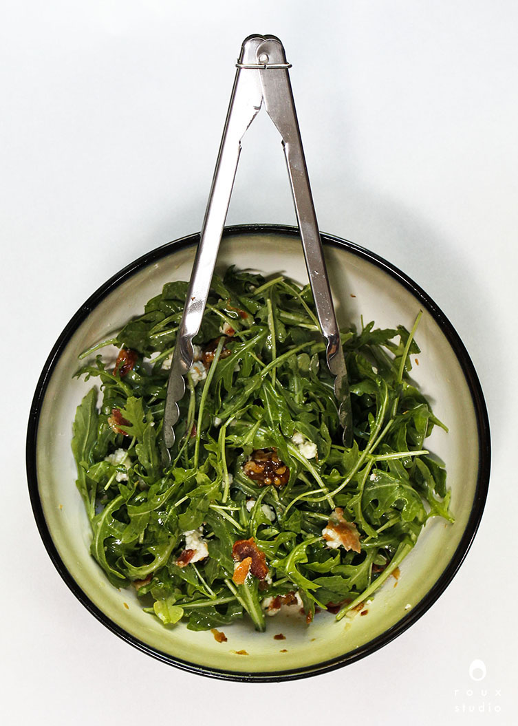 tossed summer arugula salad | roux studio