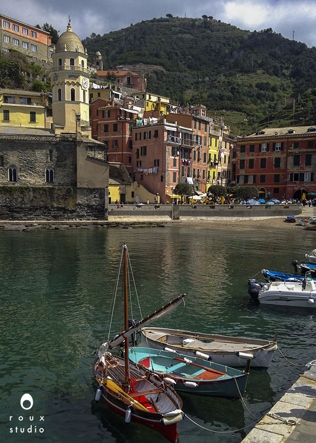 boats in the harbor, vernazza   cinque terre, italy | april 2014