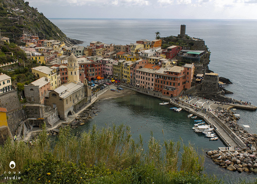 vernazza from above  cinque terre, italy | april 2014