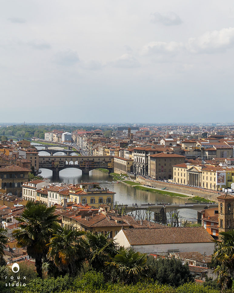 ponte vecchio from piazzale michelangelo  florence, italy | april 2014