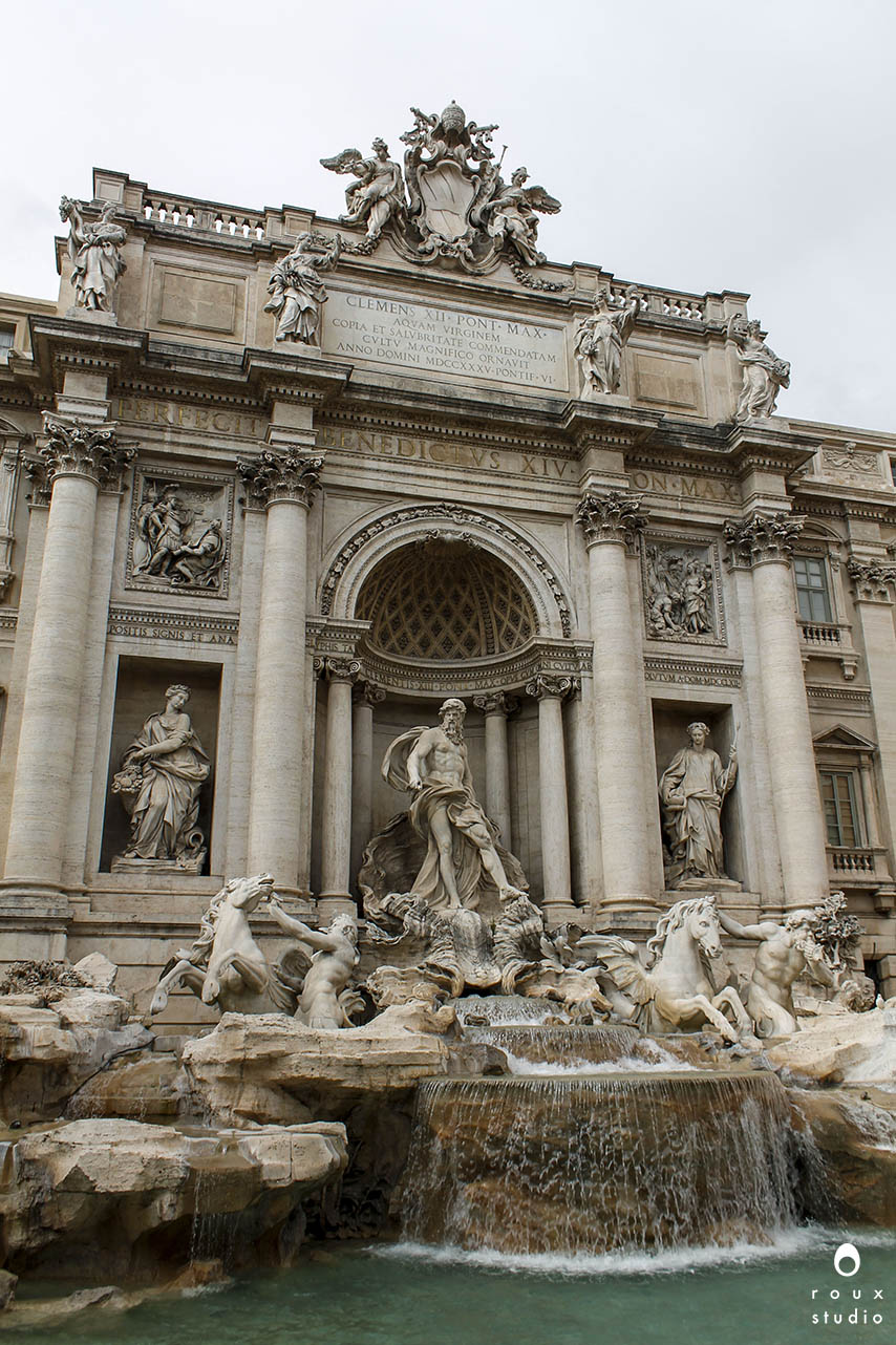 trevi fountain  rome, italy | april 2014