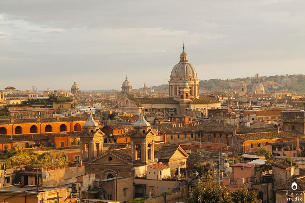 view from giardino degli aranci  rome, italy | april 2014