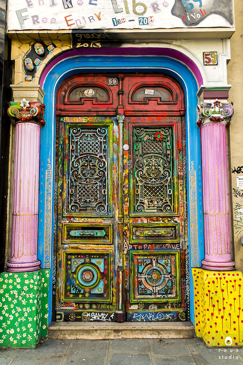 colorful doorway  paris, france | march 2014