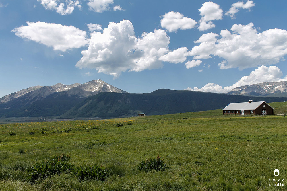 barn in a field  crested butte, co | july 2014
