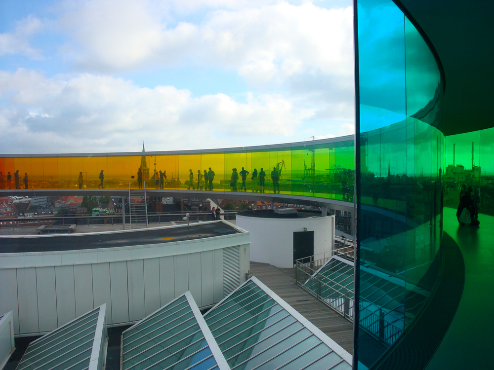 Olafur Eliasson's Rainbow Panorama at the AROS museum in Aarhus