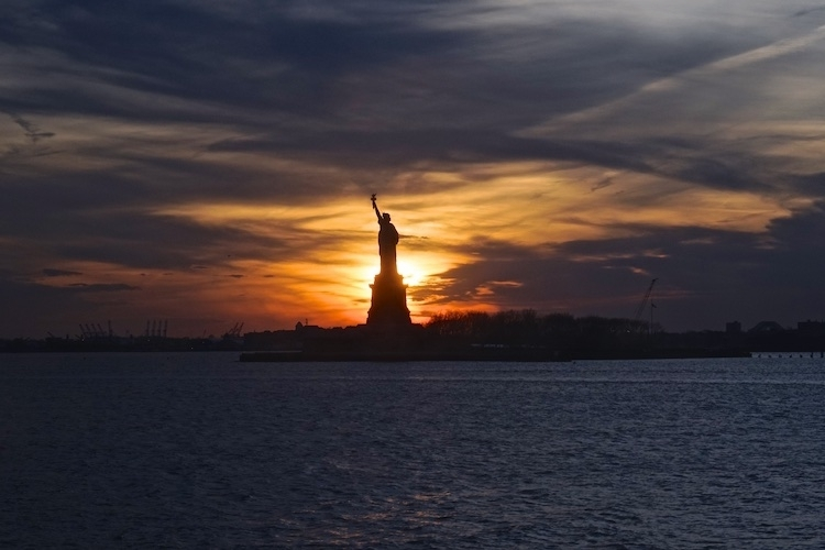 Lady Liberty in Silhouette