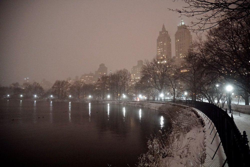 A Snowy Night in Central Park