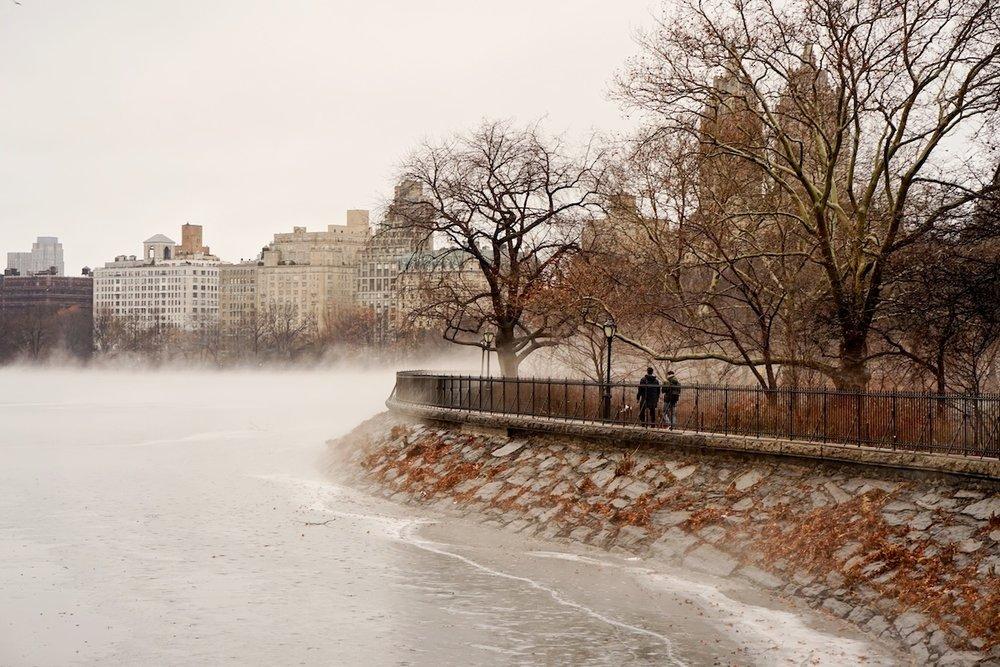 Mist on the Reservoir, Central Park.
