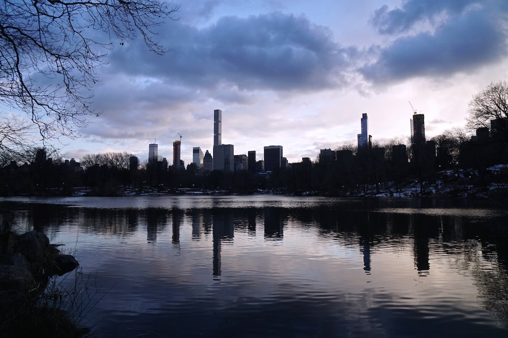 The Lake at Dusk, NYC