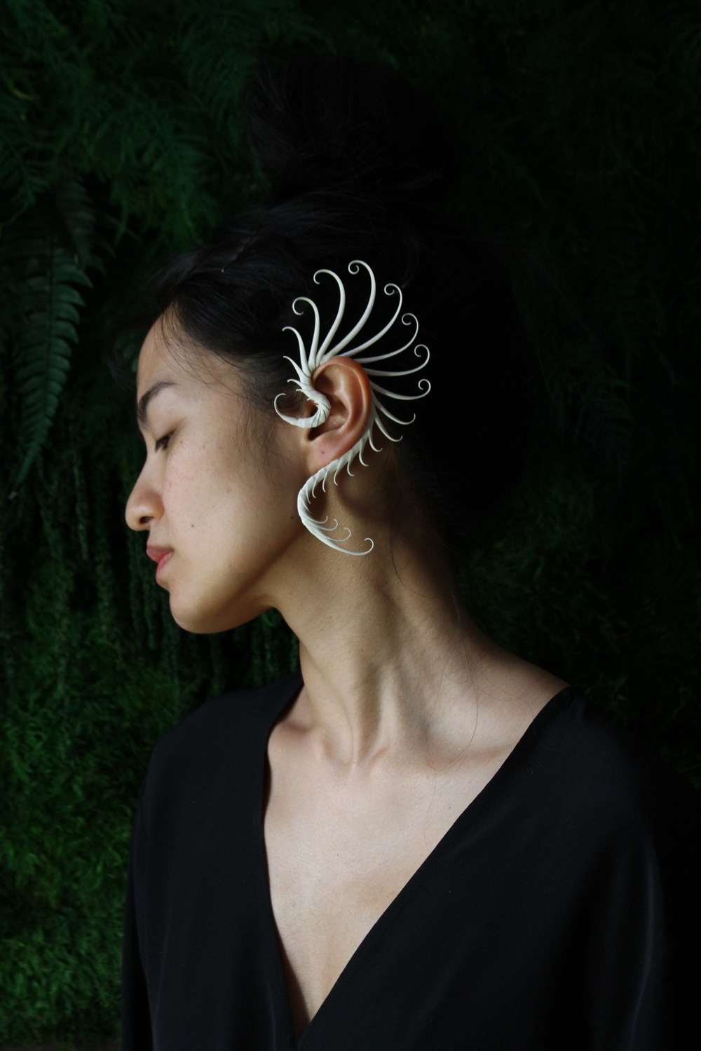 Accessories:  Zoa Chimerum Jewelry  Modeling/Styling/Set:  Seda Sean  MUA: Siri Crane  Photography:  Sue-Yee Leung
