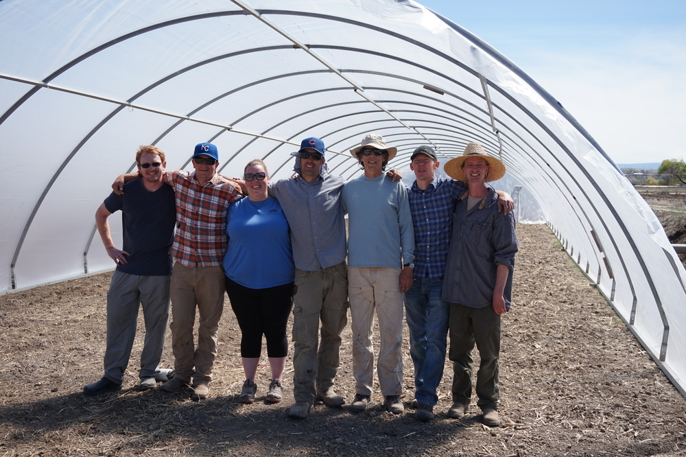Volunteers helped us with our new grow tunnel!