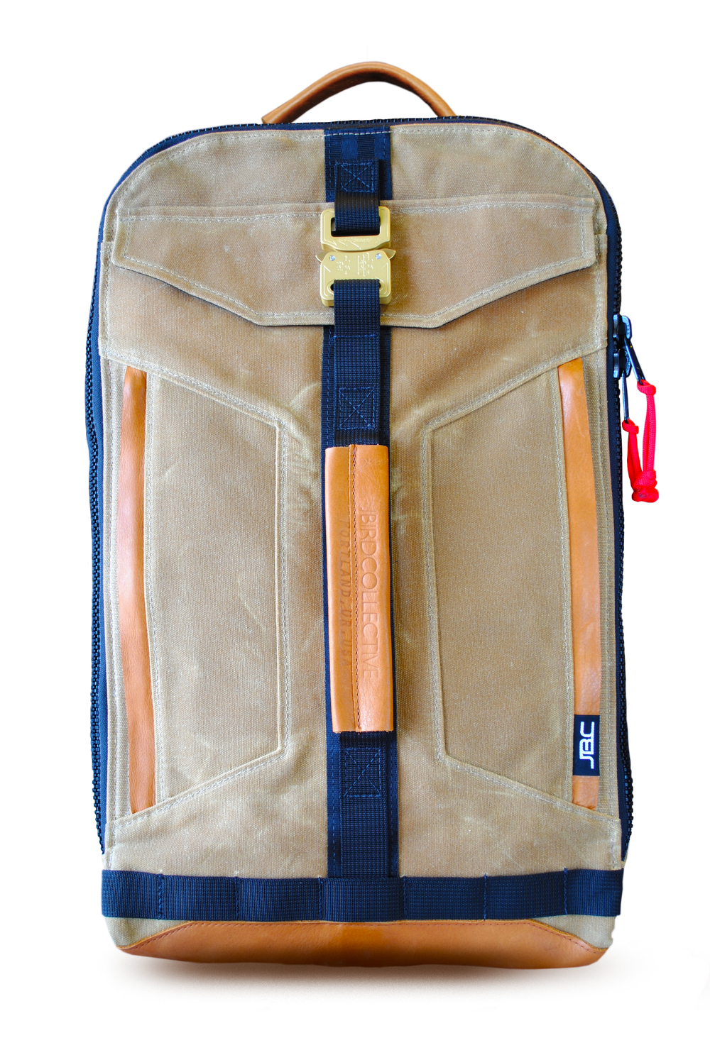 Jbird Collective: The Techpack           This pack dares you to ride your motorcycle faster. Its 25liter interior allows you to throw a couple changes of clothes, an extra pair of shoes, a large nalgene and your toiletries without disorganizing your pens, notebooks, laptop and power cords.                                                Its Cobra buckle is manufactured using the highest grade aluminum alloy, brass and steel. They do not corrode, jam, crack or malfunction.             Made in Oregon                        $280                  jbirdcollective.com