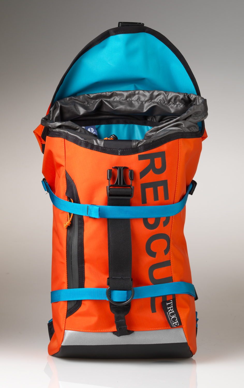Truce: Air Rescue         This pack wants to go to sea! It's made of coast guard rescue drysuit scraps salvaged and upcycled into one of the strongest backpacks the human race has ever seen.                    Seam-sealed liners make it totally weatherproof.                   Made in Oregon                          $340              trucedesigns.com