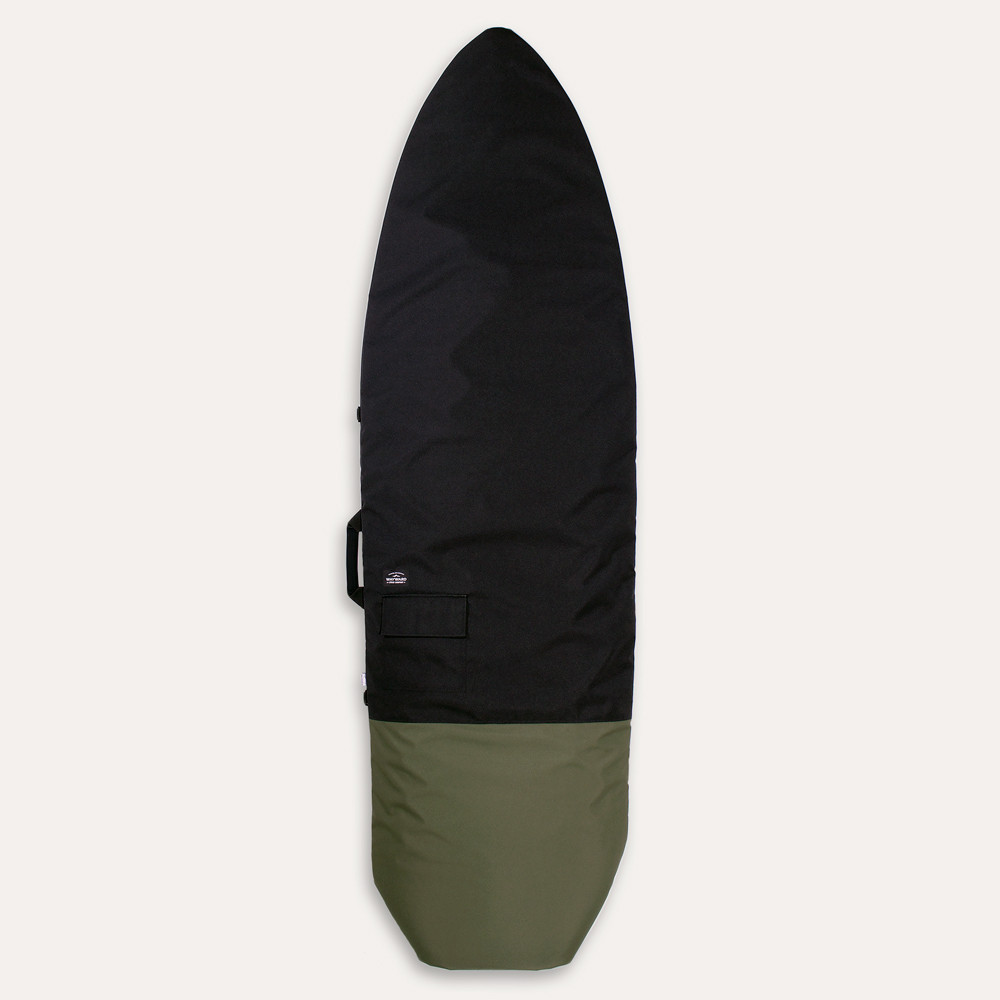 "Wayward Stock // Roll-Top Board Bag   If you surf, you have a love for simple minimalism, just like you'll find in this roll-top. Fits boards up to 6'8"" in the padded cloth-lined bag with a coated polyester shell.  $149.95 //  waywardstock.com  // Made in Washington"