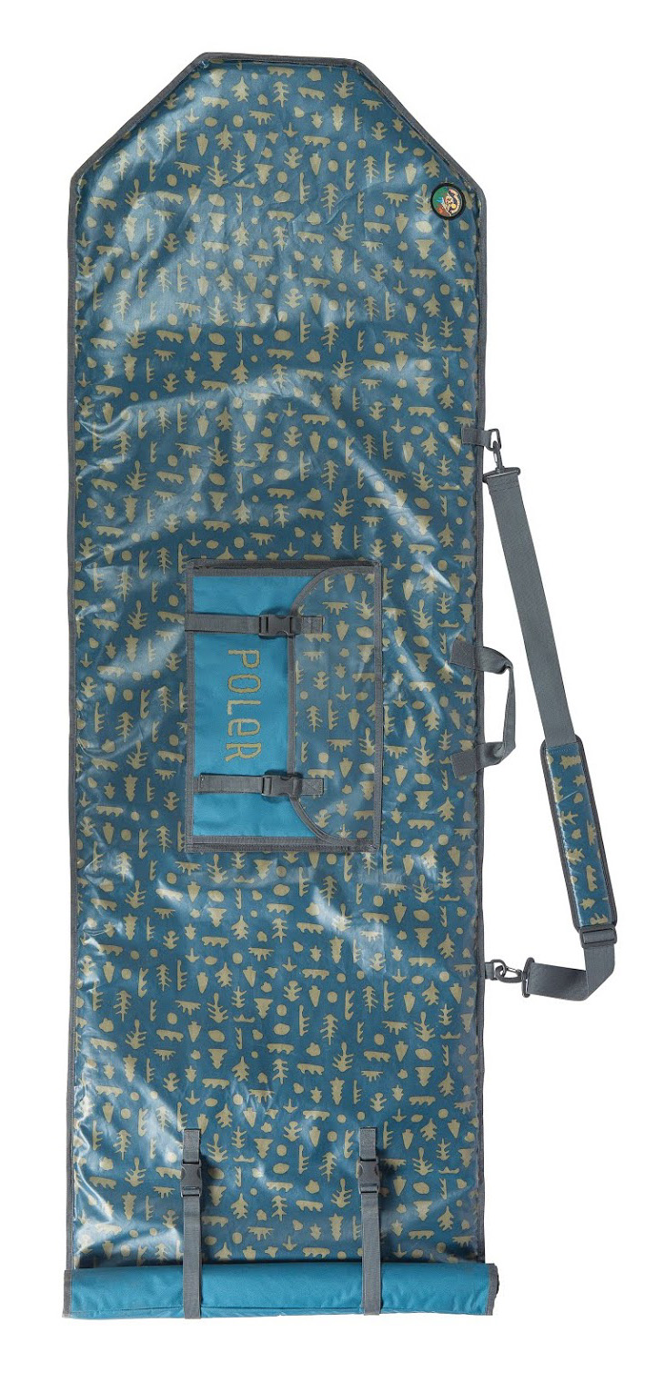 "Poler // High & Dry Surfboard Bag   Made from the same splash-proof stuff as Poler's High & Dry Pack, this buddy wants to get surfy. It fits up to a 6' 6"" surfboard in its padded roll-top sheath.  $219.95 //  polerstuff.com  // Made in China"