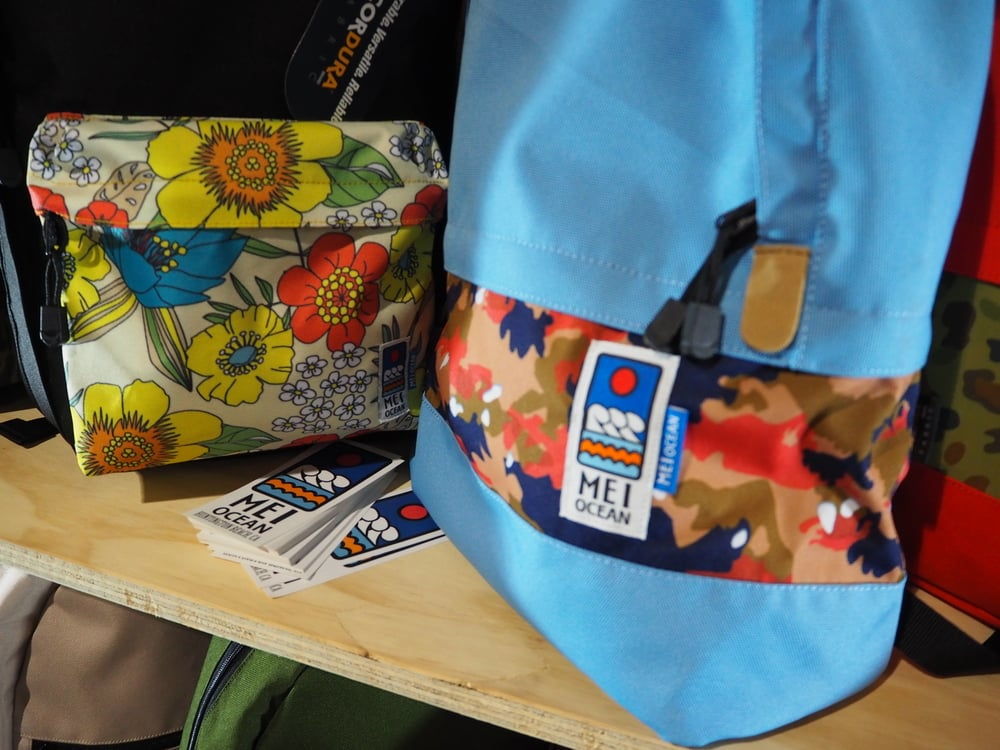MEI Ocean:   I love the colorful patterns on the backpacks from this new Japanese brand.