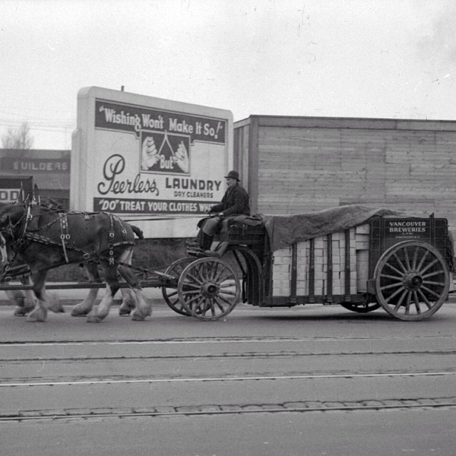 The Vancouver Breweries Delivery Wagon, 1942