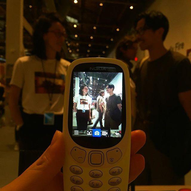 Nokia analog snap magic.  @mikorevereza @printedmatter_artbookfairs #laabf2019 📸: @daphmoney