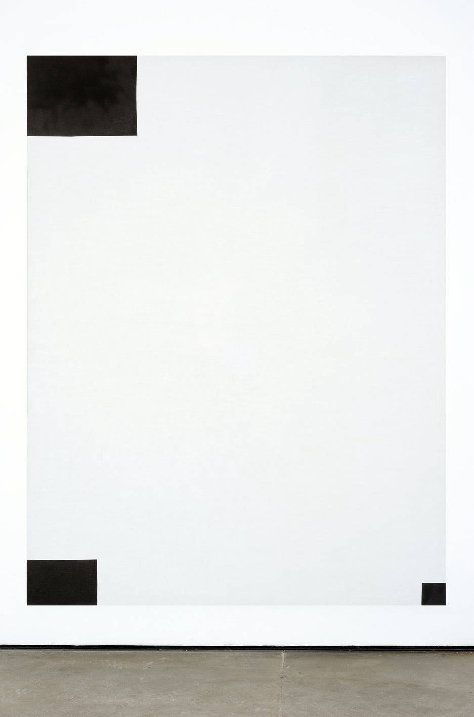 Untitled  2010  Acrylic gesso on canvas  202 x 151 cm / 79.5 x 59.4 in