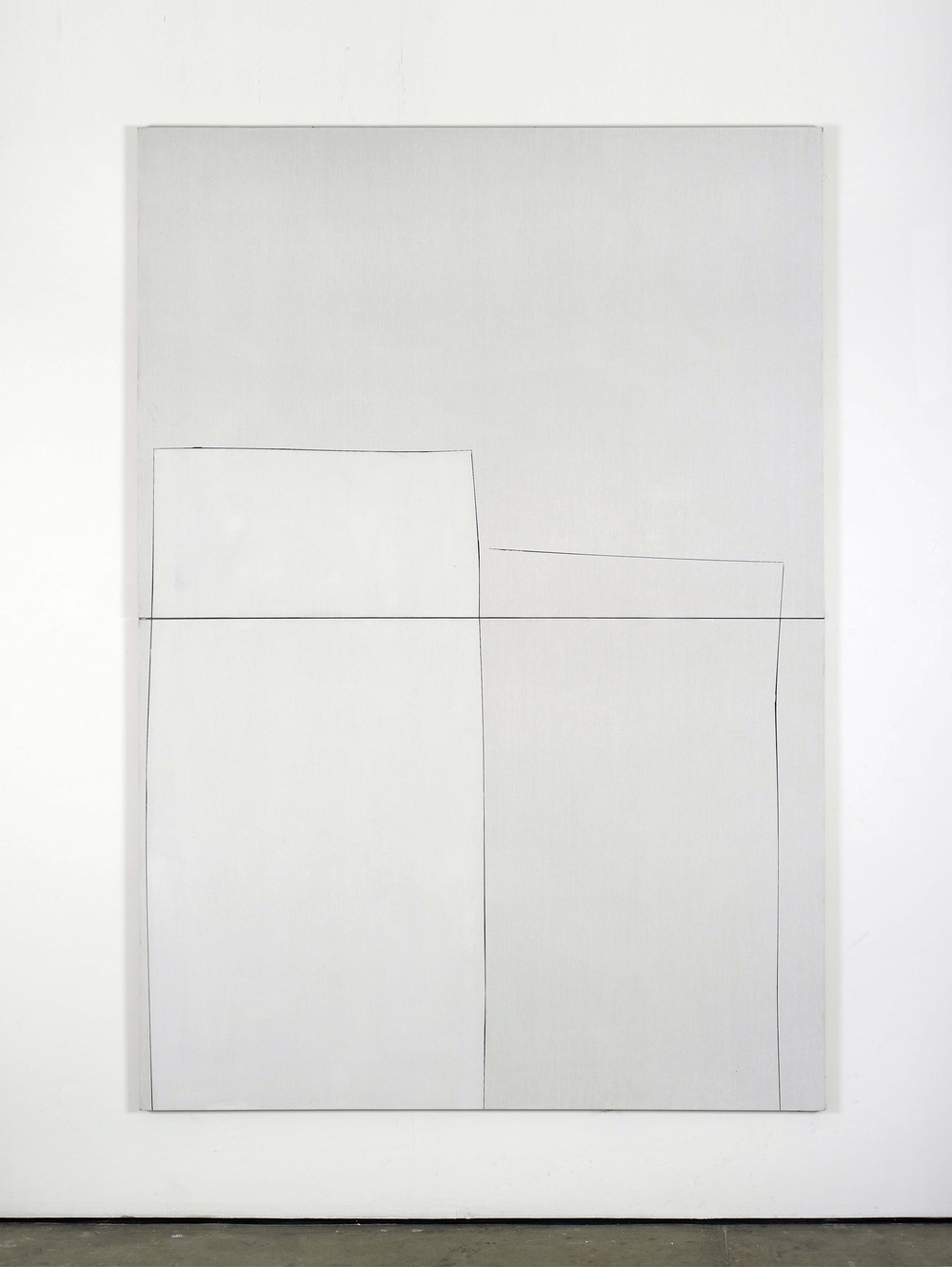 Untitled 2010 Acrylic gesso on canvas 260 x 180 cm / 102.3 x 70.8 in  2 parts, each part 130 x 180 cm / 51.1 x 70.8 in