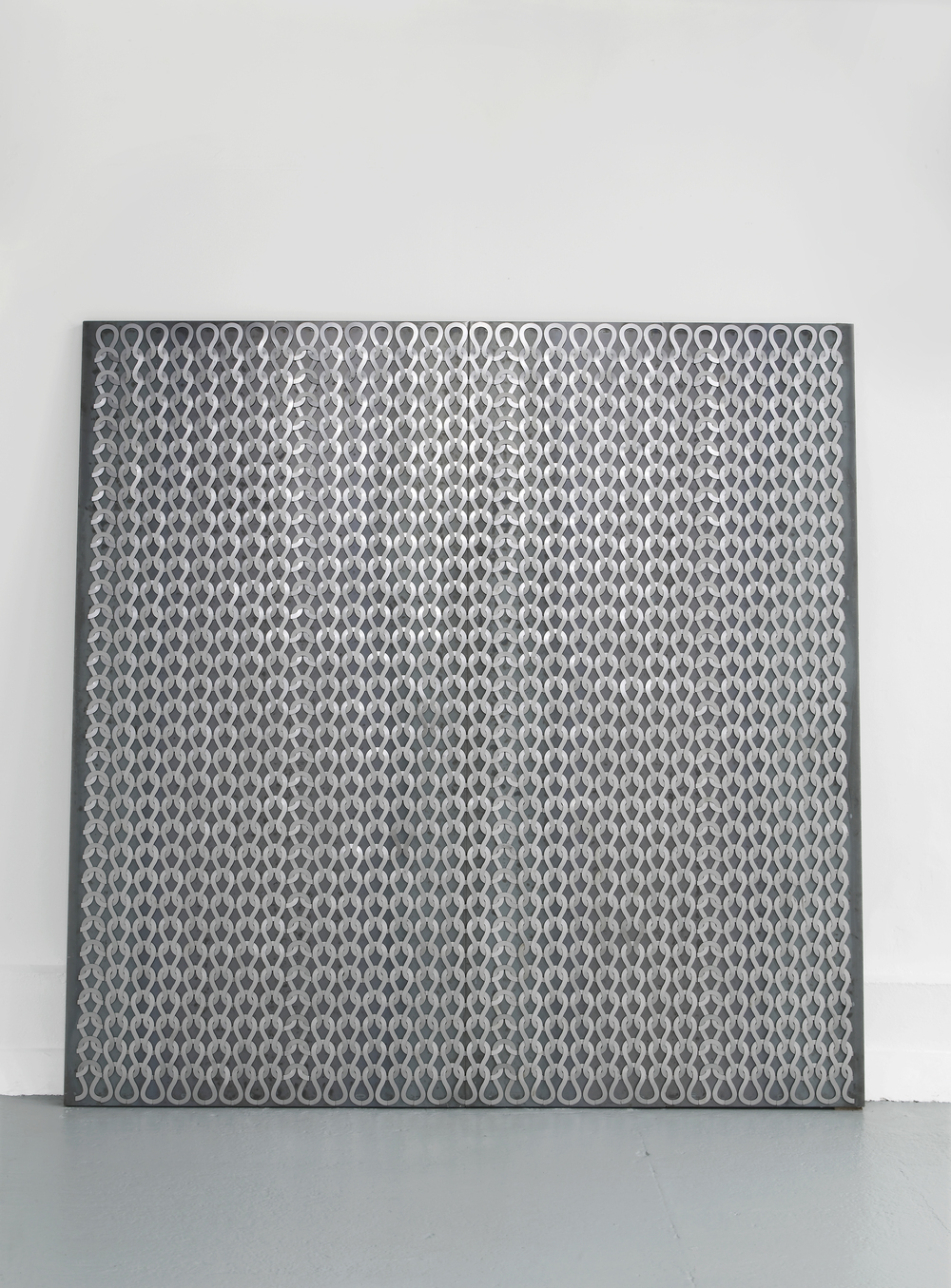 Uknit 2  2011  Steel, magnets  250 x 250 cm / 98.4 x 98.4 in