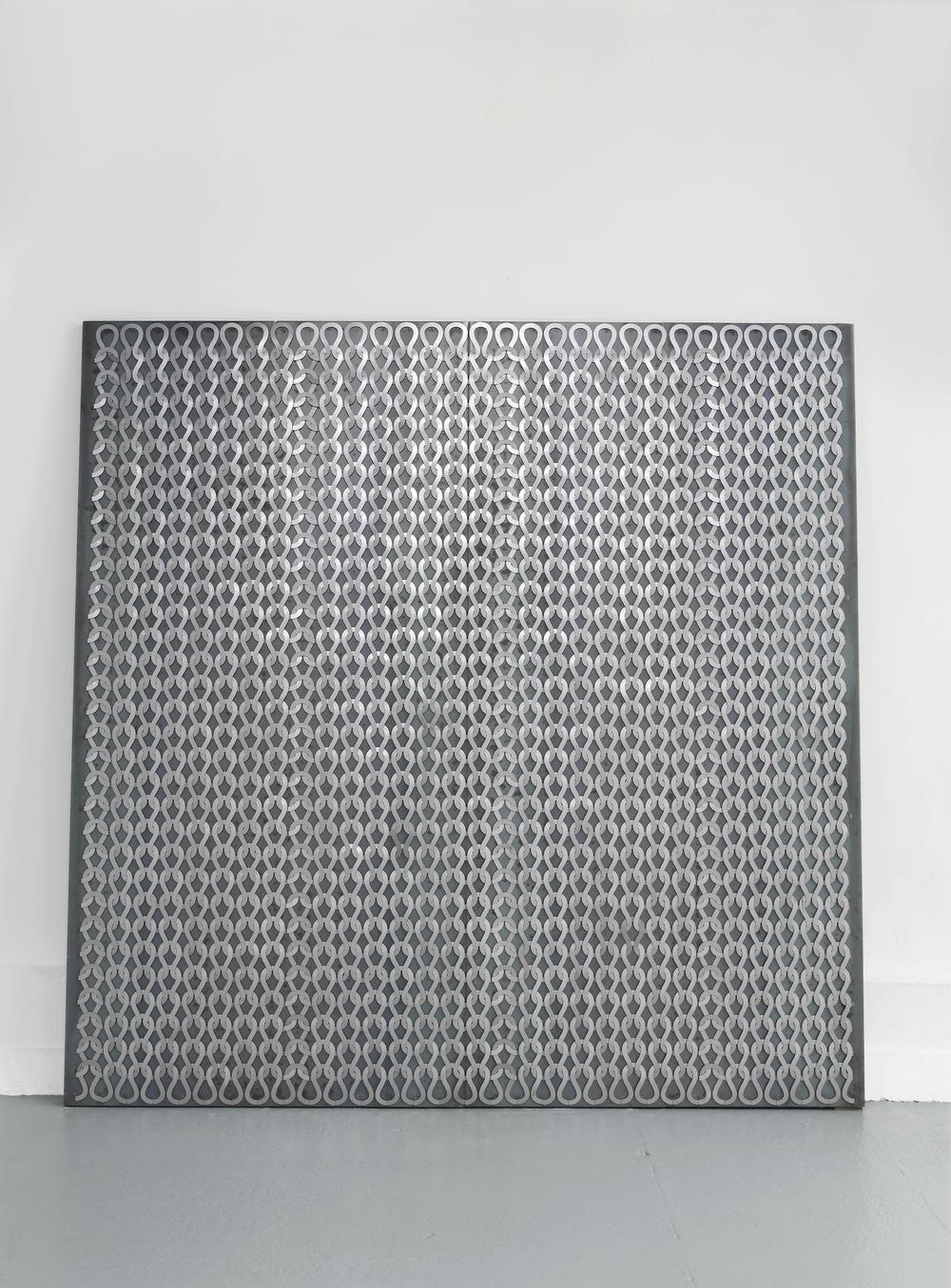 Uknit 2  2011  Steel, magnets  250 x 250 cm / 98.4 x 98.4 in
