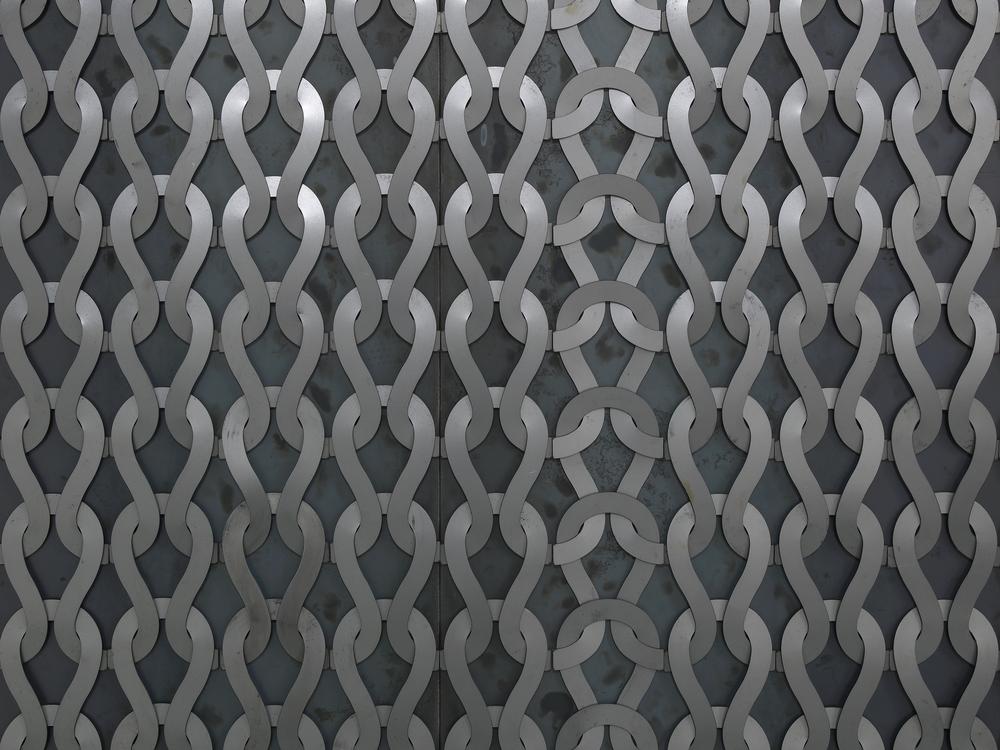 Uknit 2 (detail)  2011  Steel, magnets  250 x 250 cm / 98.4 x 98.4 in