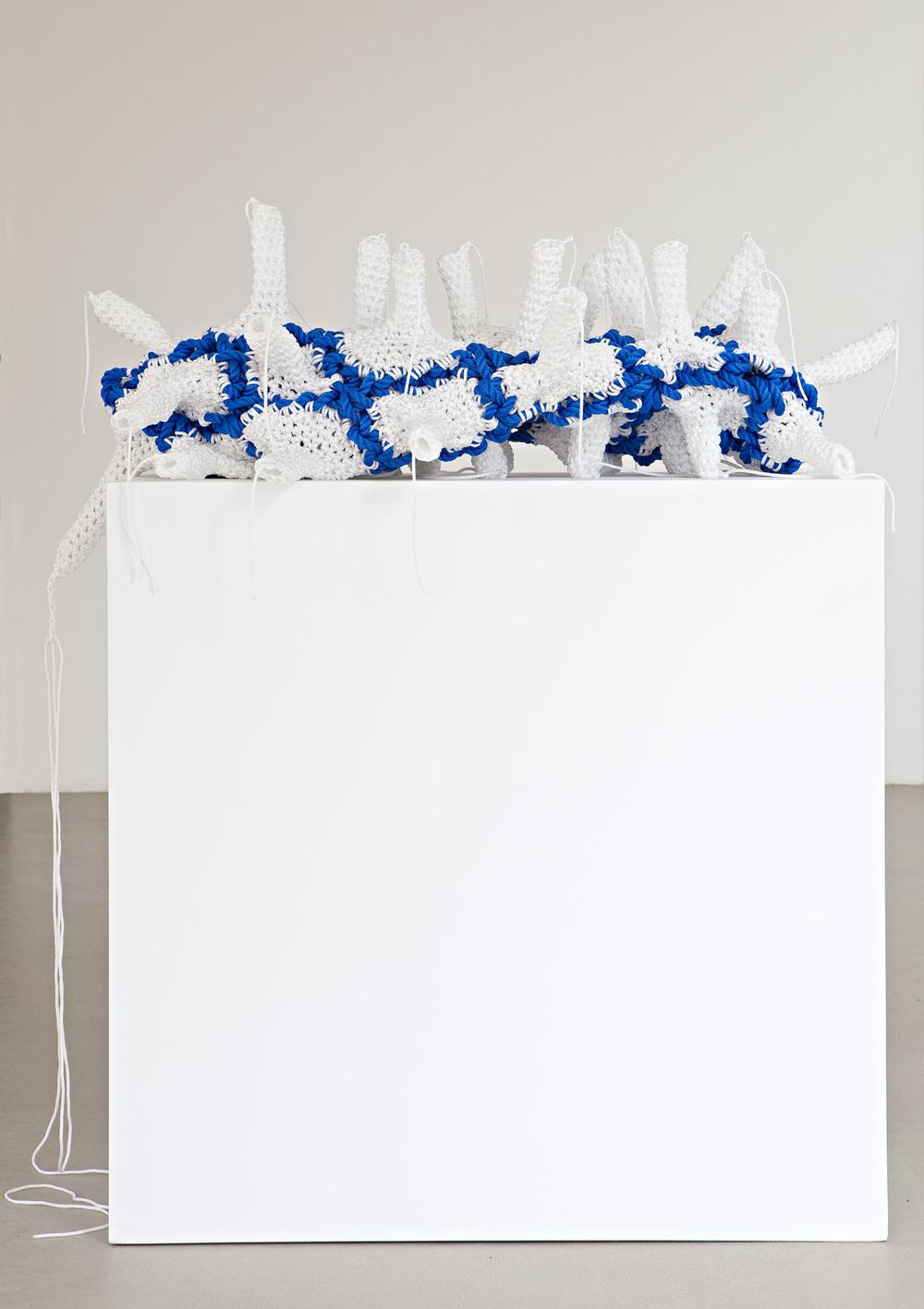 Fabrik   2012  Polypropylene, pedestal  Object: 34 x 126 x 54 cm / 13.4 x 49.6 x 21.3 in