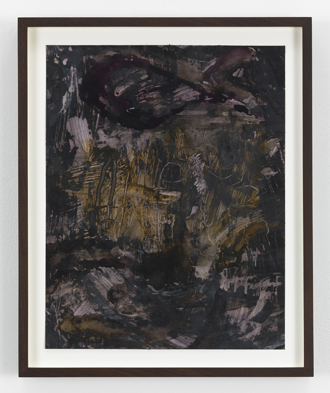 Untitled  2012 Inks and mixed media on photographic paper 35.5 x 27.9 cm / 14 x 11 in, 41.4 x 33.7 cm / 16.3 x 13.3 in framed