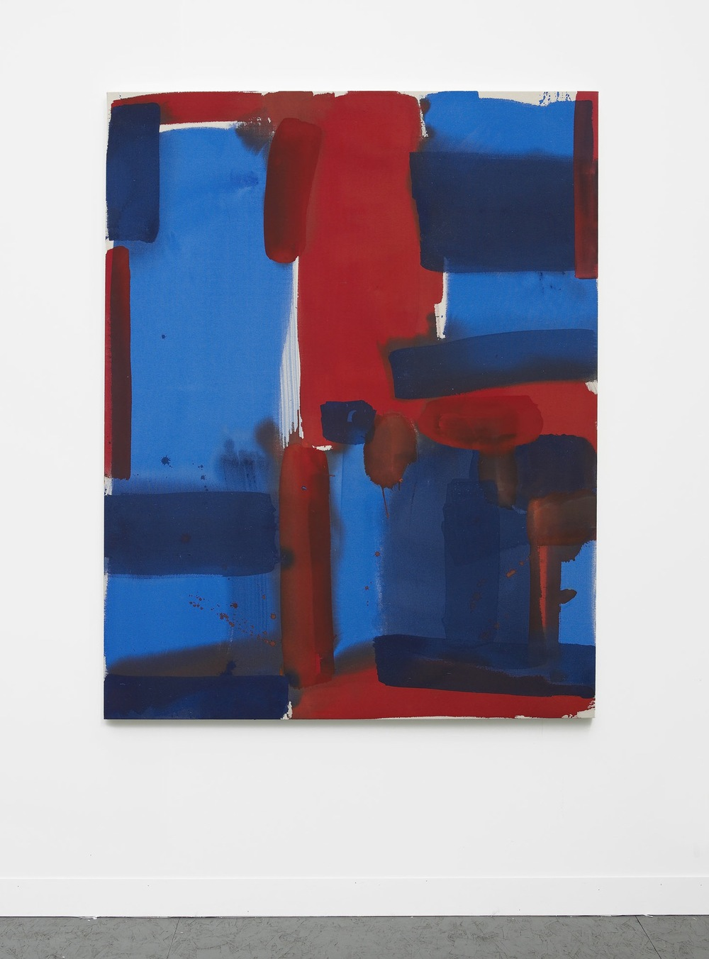 No Input (red, blue)  2013  Acrylic on canvas  162.5 x 127 cm / 64 x 50 in
