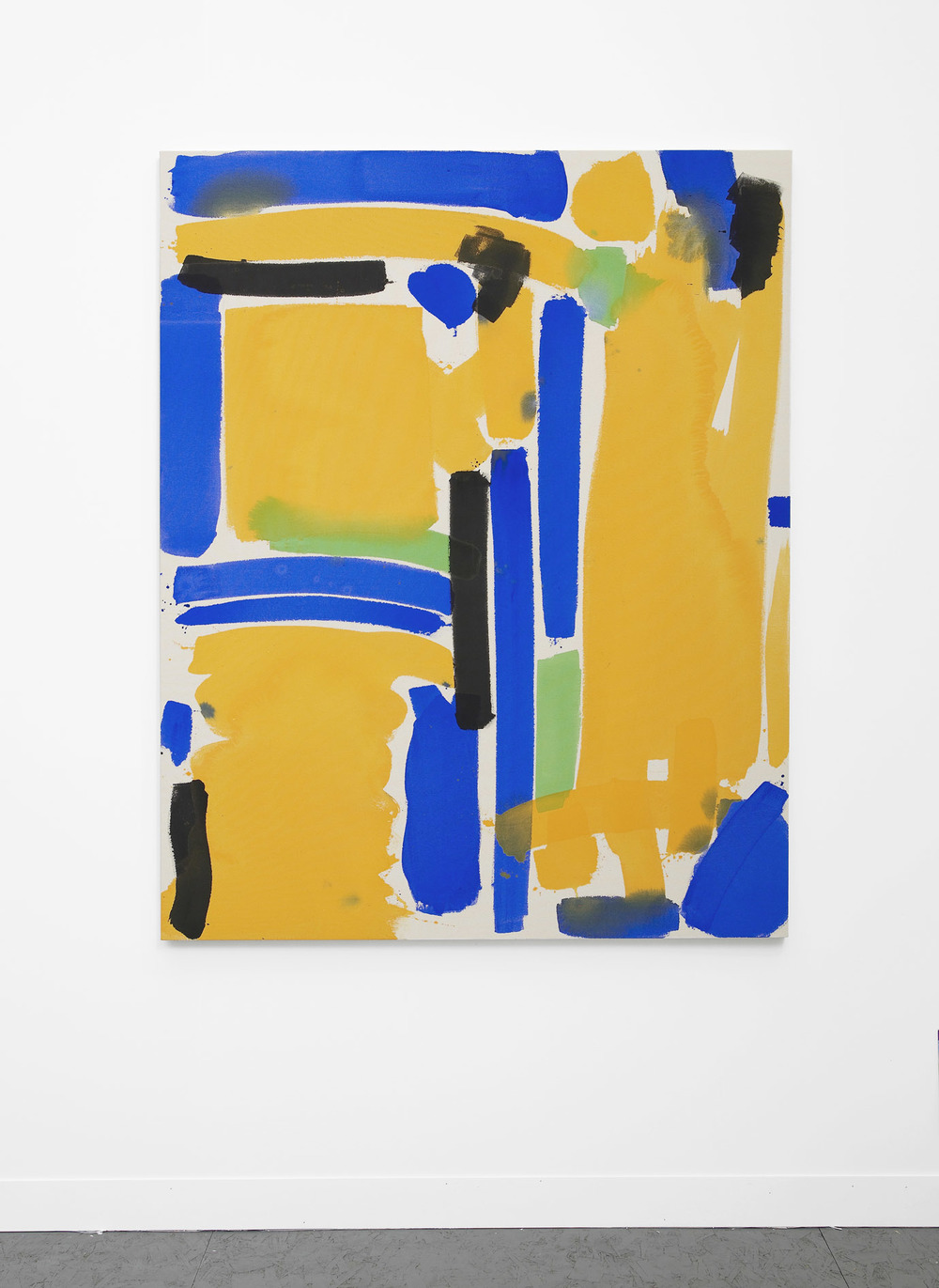 No Input (yellow, blue, green)  2013  Acrylic on canvas  152.4 x 121.9 cm / 60 x 48 in