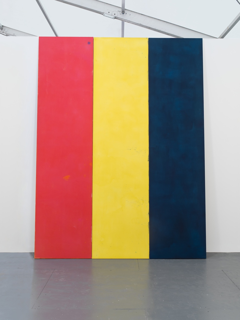 What is the Third Question  2013 Acrylic on canvas 3 parts, each: 365 x 83.8 cm / 144 x 33 in Overall: 365 x 251.5 cm / 144 x 99 in
