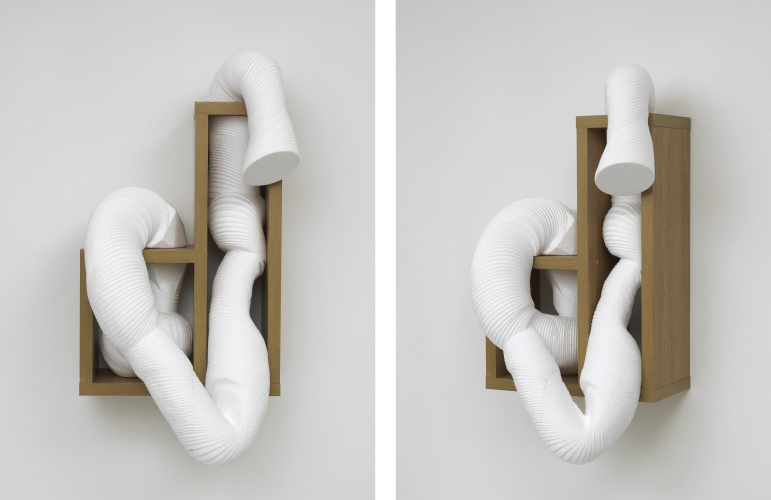 Standardised Form No.2 (coil)  2013  3D model in polystyrene on artificial wood support  120 x 60 x 30 cm / 47.2 x 23.6 x 11.8 in