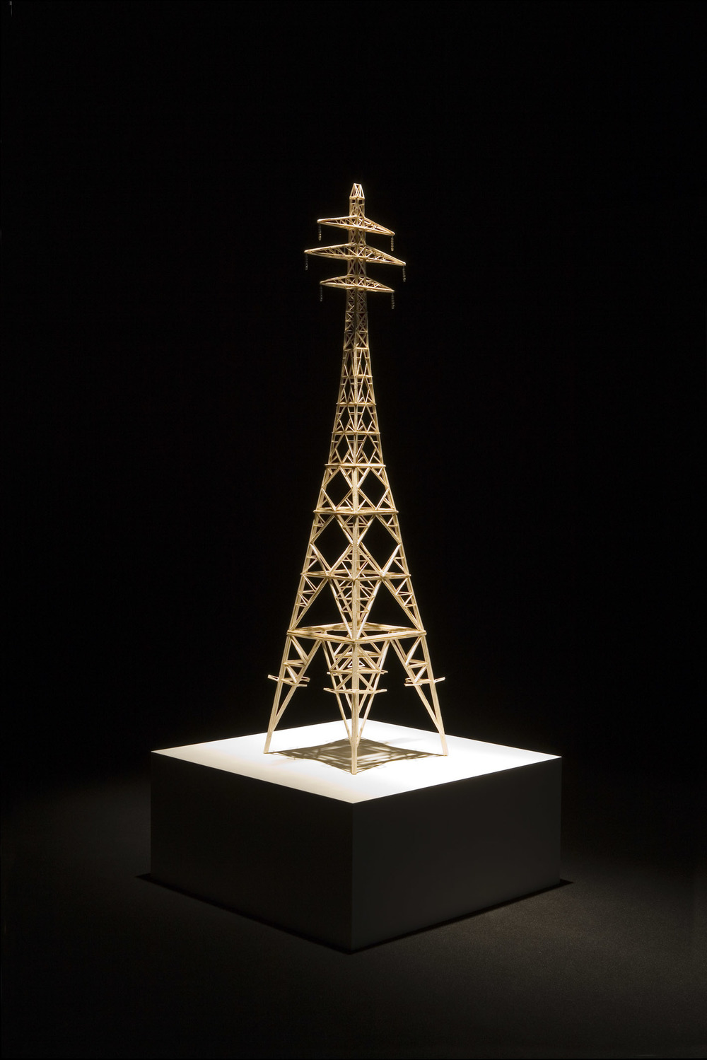 The Explosion Point of Ideology 2008 Matchsticks and glue 172.5 x 40 x 40 cm / 67.9 x 15.7 x 15.7 in