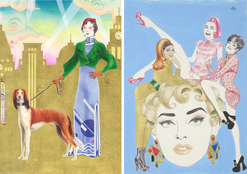 Qipao  旗袍  - Shanghai  上海  (1930s)  Qipao  旗袍  - New York  紐  約  (1990s)  2012