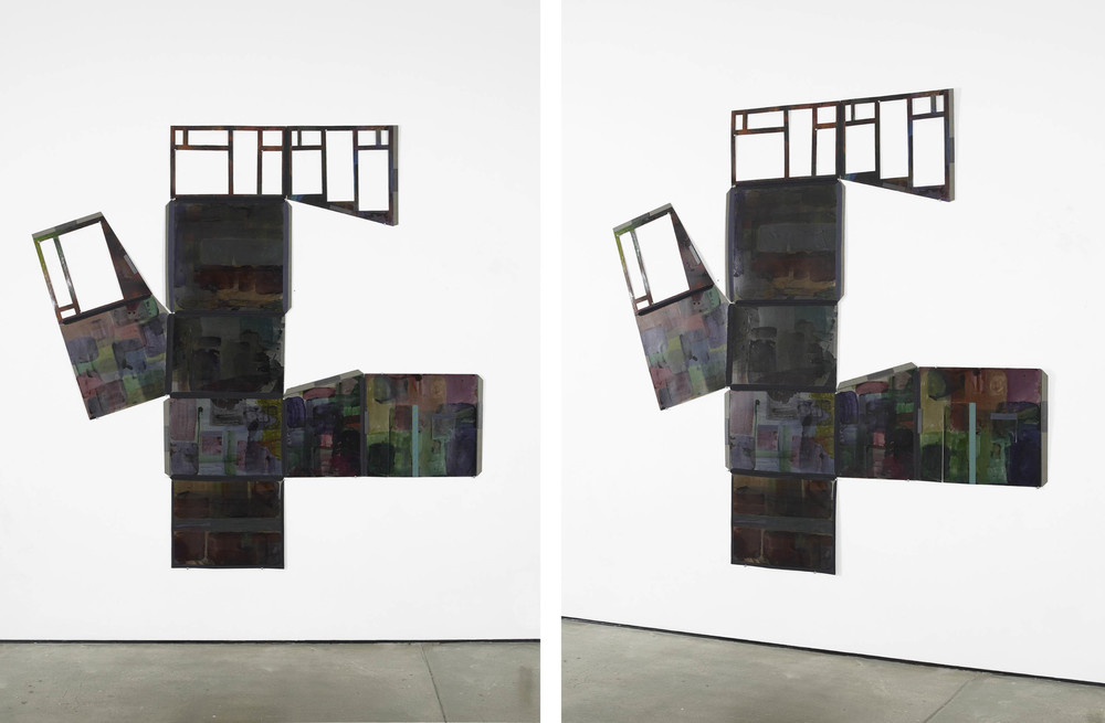 Dark Signal  2008 - 2012  ink, endboard, bookbinding fabric, magnets, plywood and pins 220 x 226 cm / 86.6 x 89 in