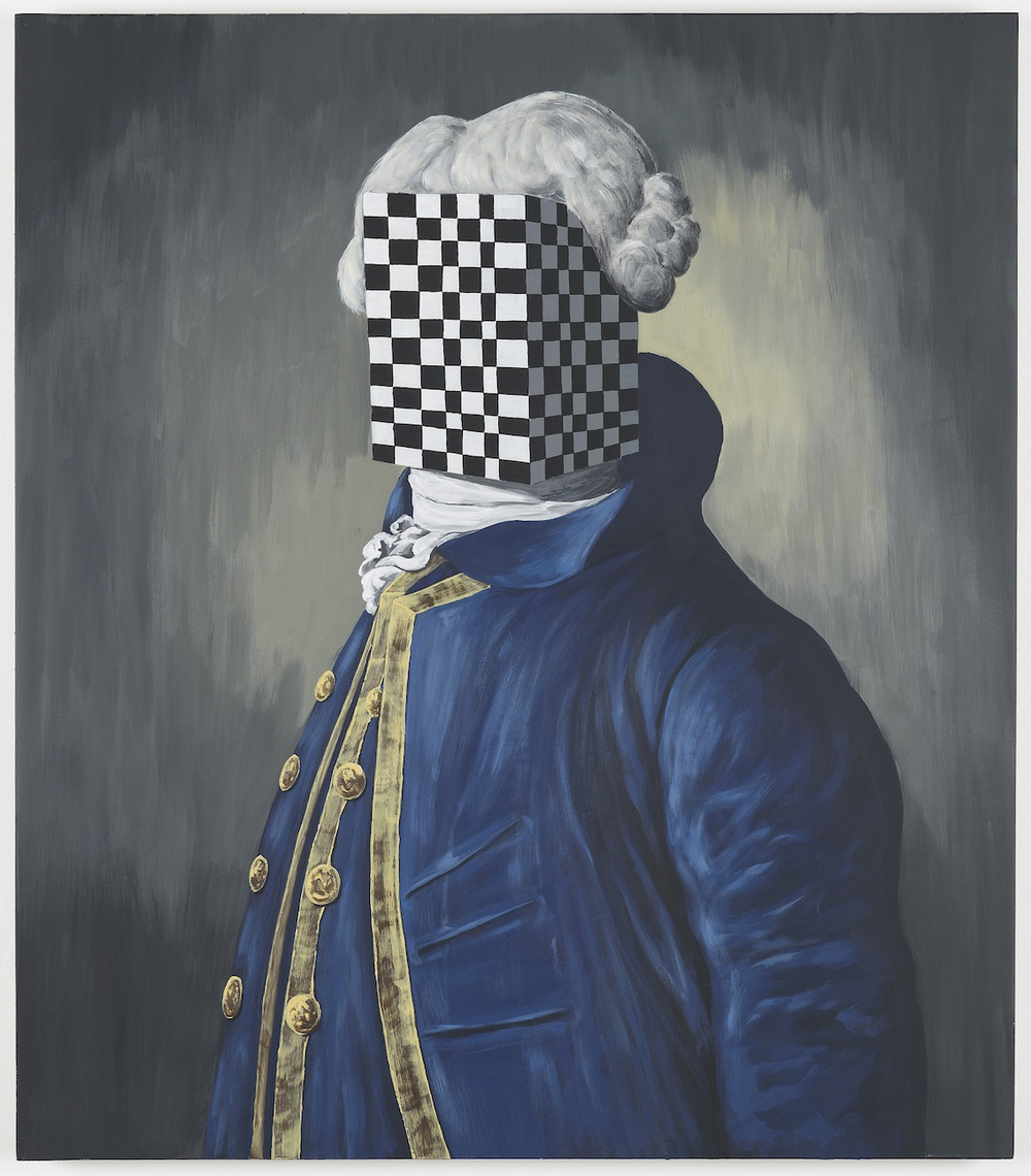 Square Squire  2013  Acrylic on board  80 x 70 cm / 31.4 x 27.5 in