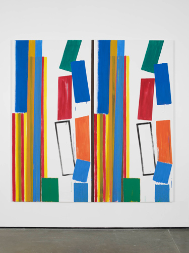 Bernard Piffaretti   Untitled   2012   Acrylic on canvas   200 x 200 cm / 78.7 x 78.7 in