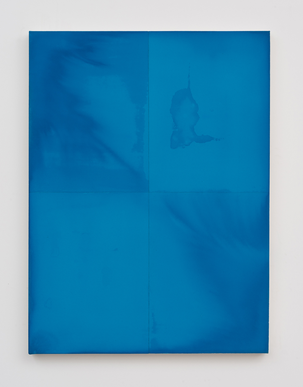 Blue Example Monochrome / Individually Treated Quadrants 2013 Acrylic and pencil on canvas: 91.4 x 68.5 cm / 36 x 27 in