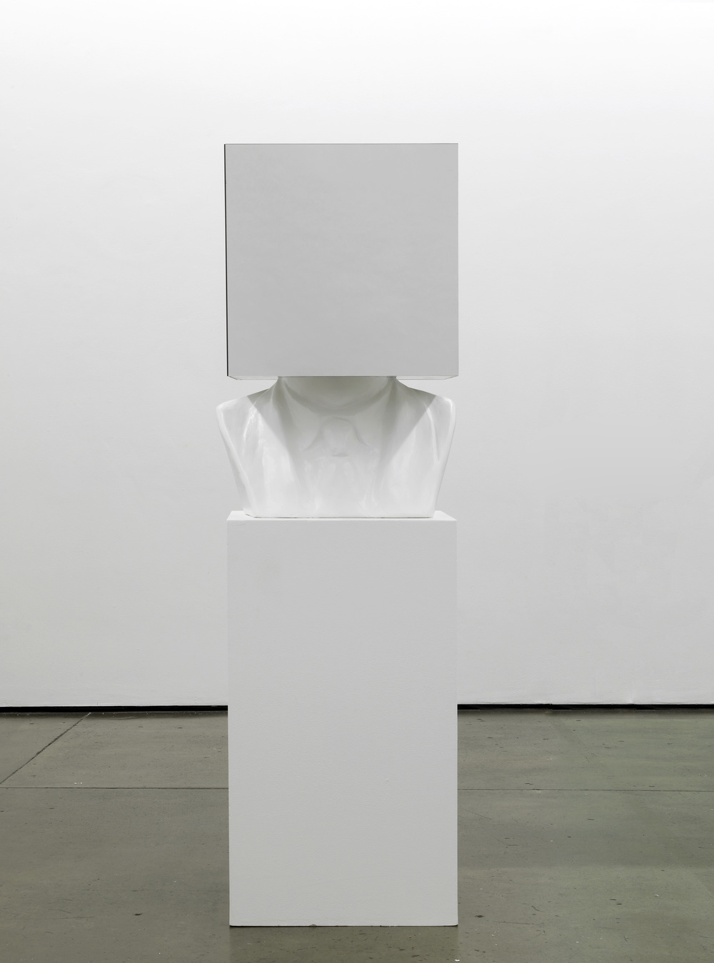 Sol LeWitt, Paragraphs on Conceptual Art, 1967  2012  Plaster bust, mirror, plinth 173 x 57 x 50 cm / 68 x 22.5 x 20 in
